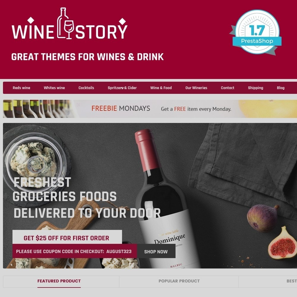 theme - Drink & Wine - Wine & Drink & Restaurant - smart responsive store - 1