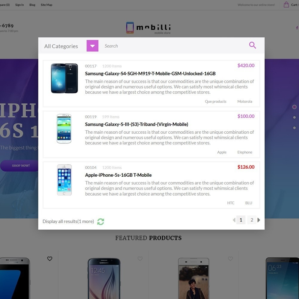 theme - Electrónica e High Tech - Mobilli - Tema para Sitio de Tienda de Móviles - 3