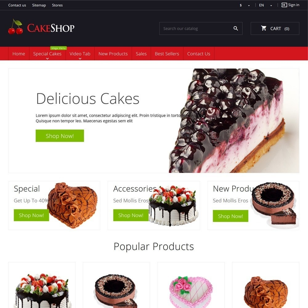 theme - Food & Restaurant - CakeShop - 2