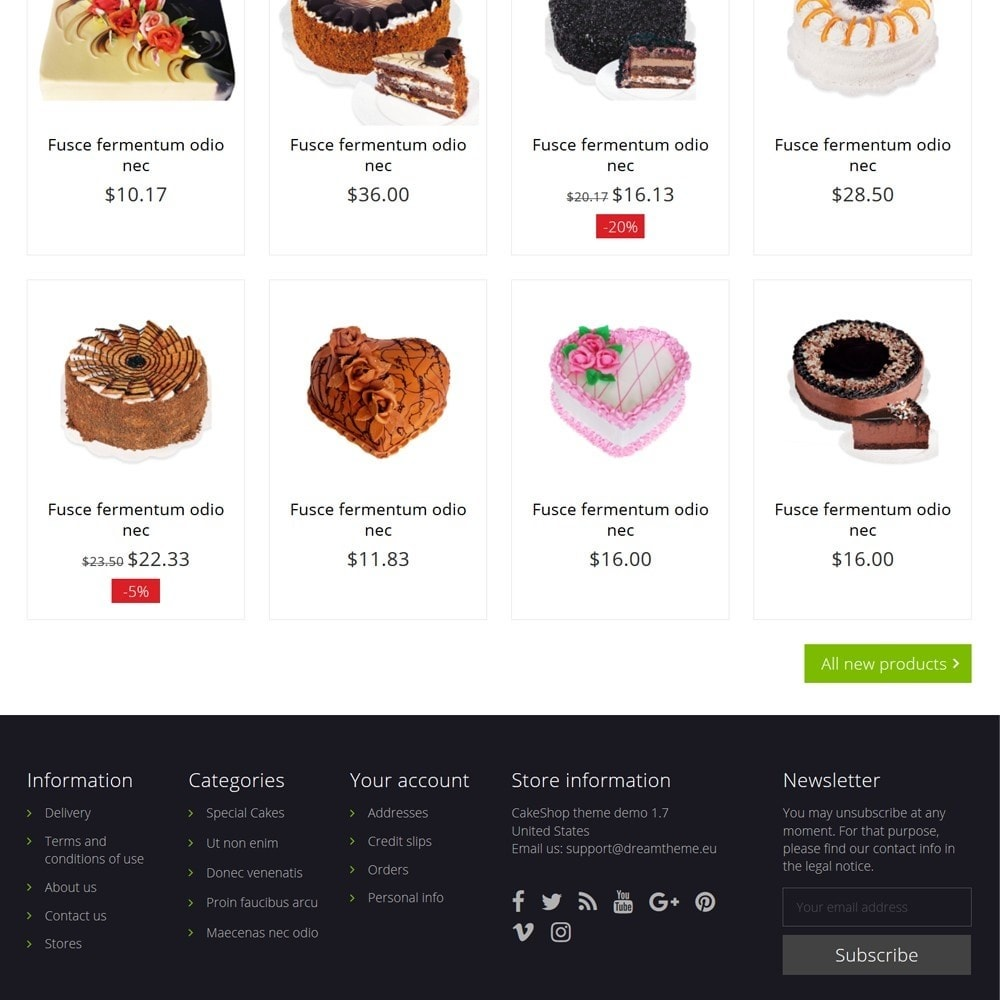 theme - Food & Restaurant - CakeShop - 4