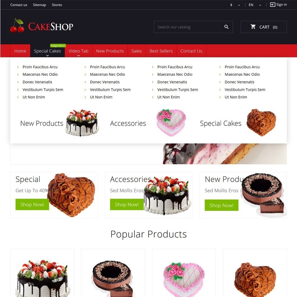 theme - Food & Restaurant - CakeShop - 5