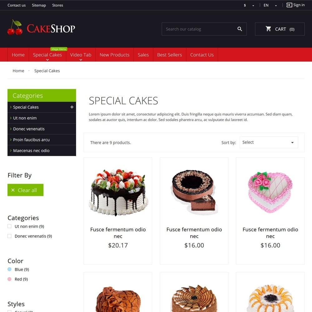 theme - Food & Restaurant - CakeShop - 6