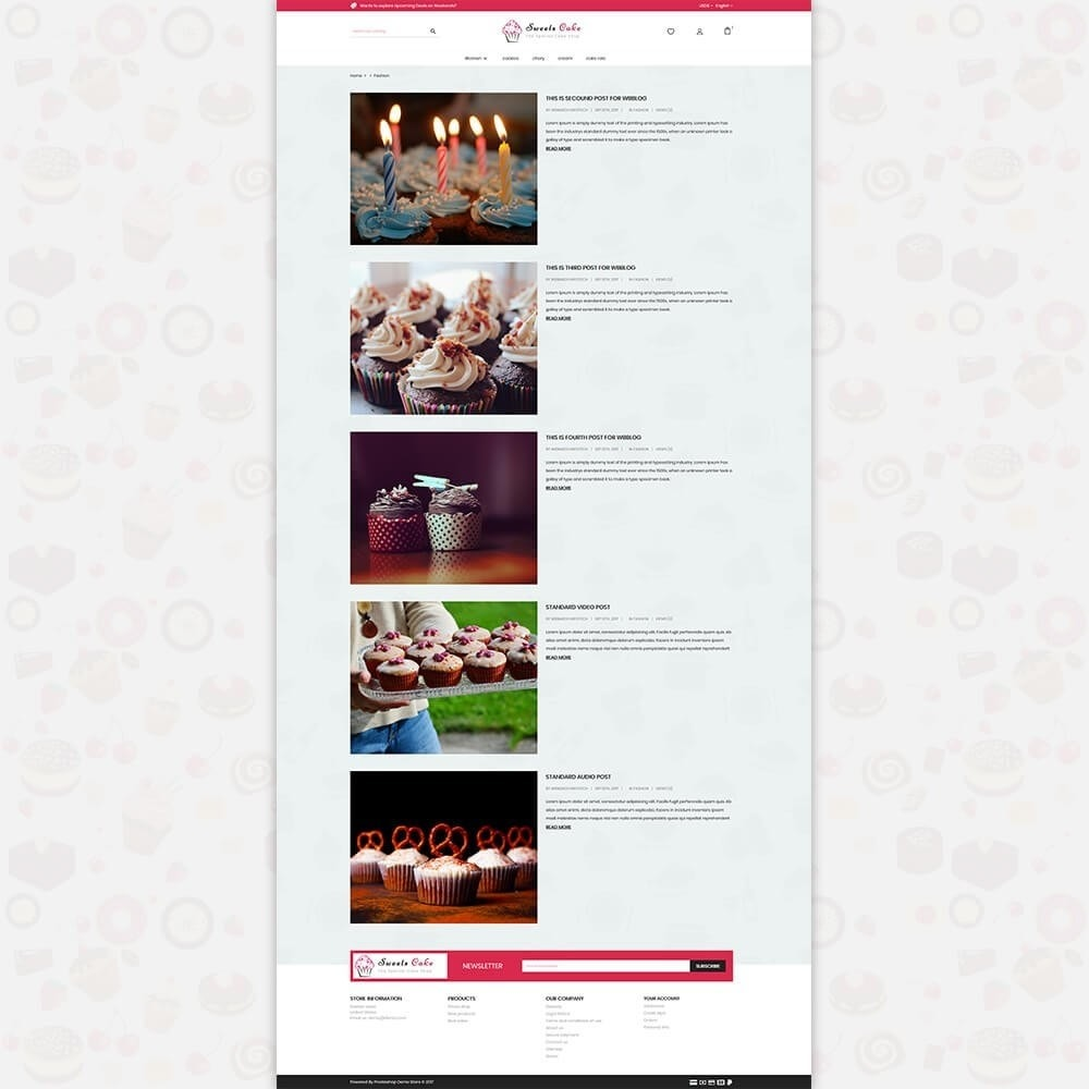 theme - Lebensmittel & Restaurants - Sweet Cake - The Special Cake Shop - 6