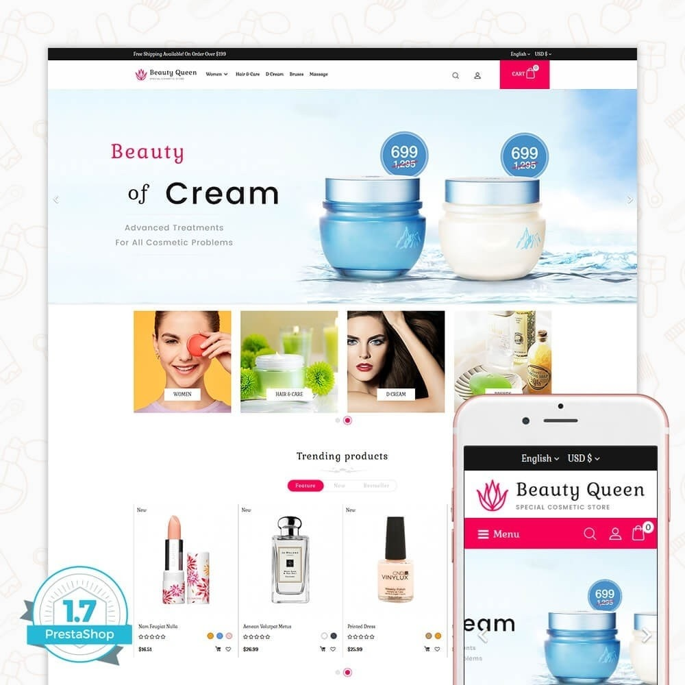 theme - Health & Beauty - Beauty Queen Store - 1