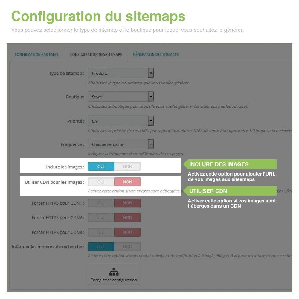 module - SEO (référencement naturel) - Sitemaps Pro Multilingues et Multi-Boutiques - SEO - 5