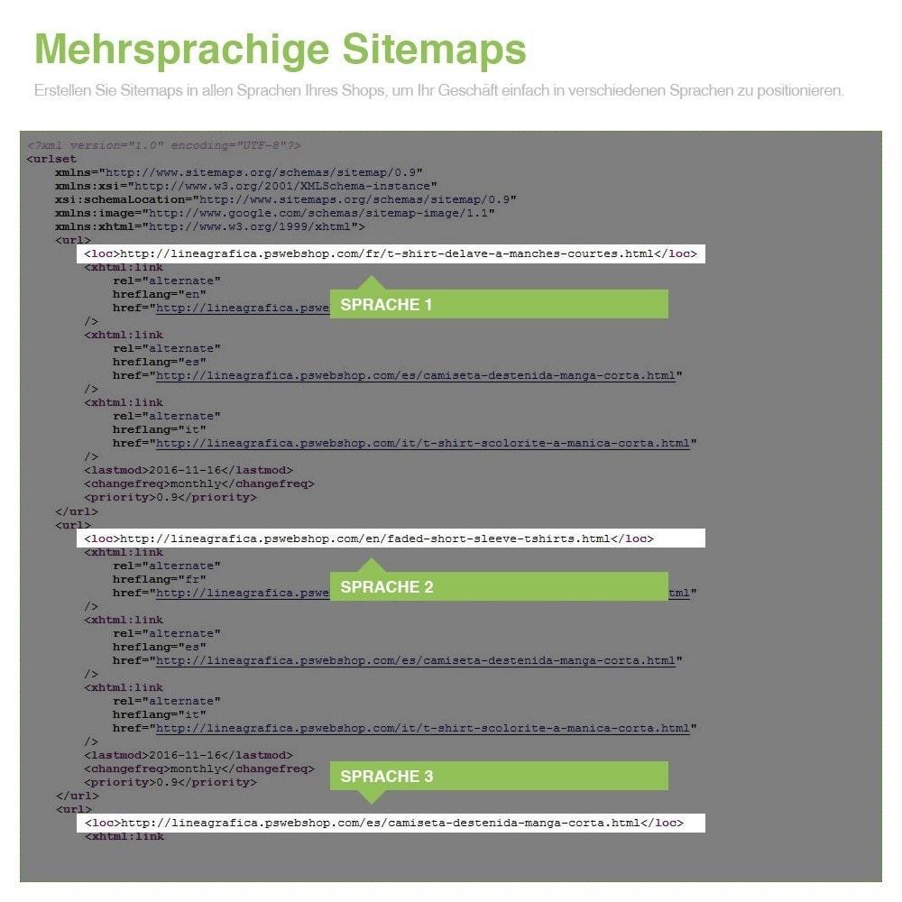 module - SEO - Multisprach und Multishop Sitemap Pro - SEO - 13