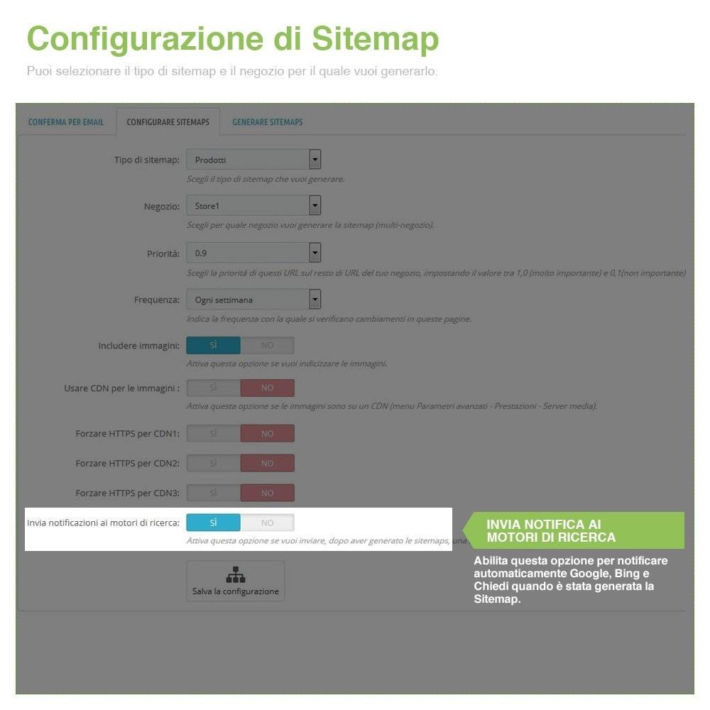module - SEO (Indicizzazione naturale) - Sitemaps Pro Multi-Lingue e Multi-Negozio - SEO - 6