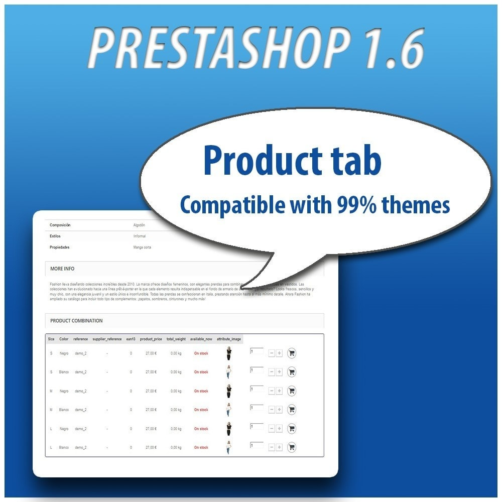 module - Combinations & Product Customization - Combinations Table PRO - 10