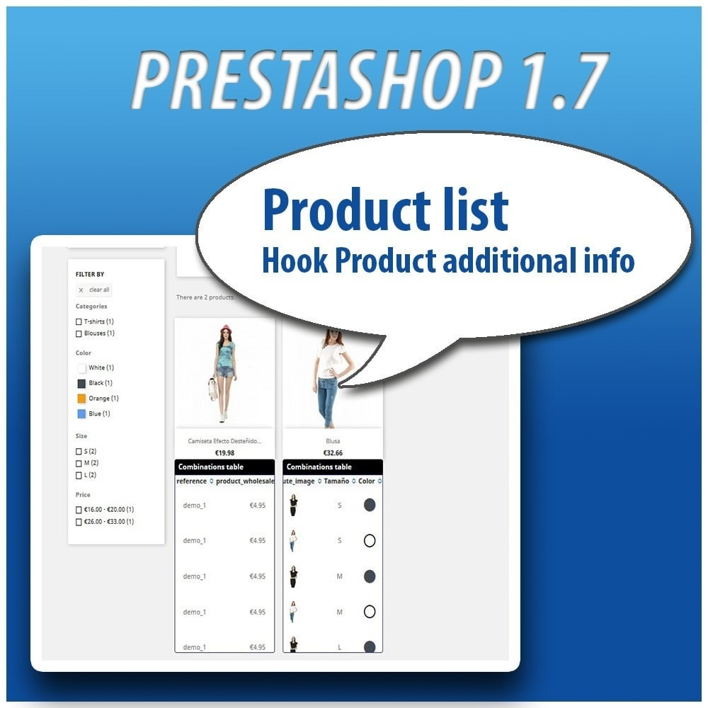 module - Combinations & Product Customization - Combinations Table PRO - 14
