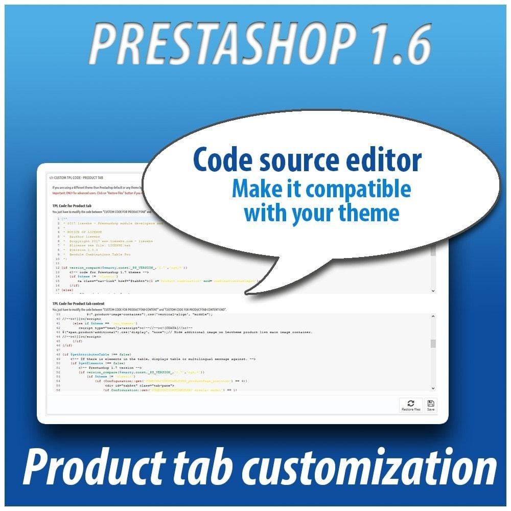 module - Combinaciones y Personalización de productos - Combinations Table PRO - 10