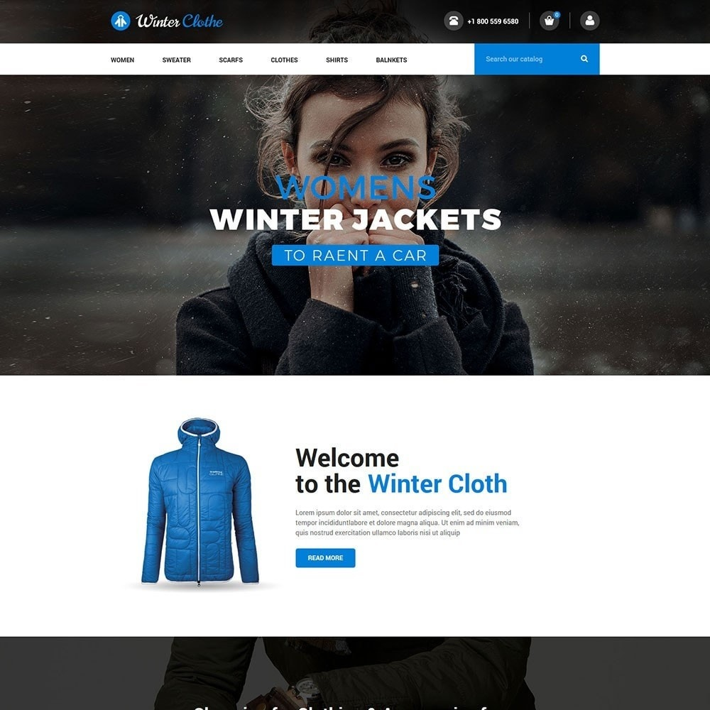 theme - Мода и обувь - Winter Cloth Store - 2