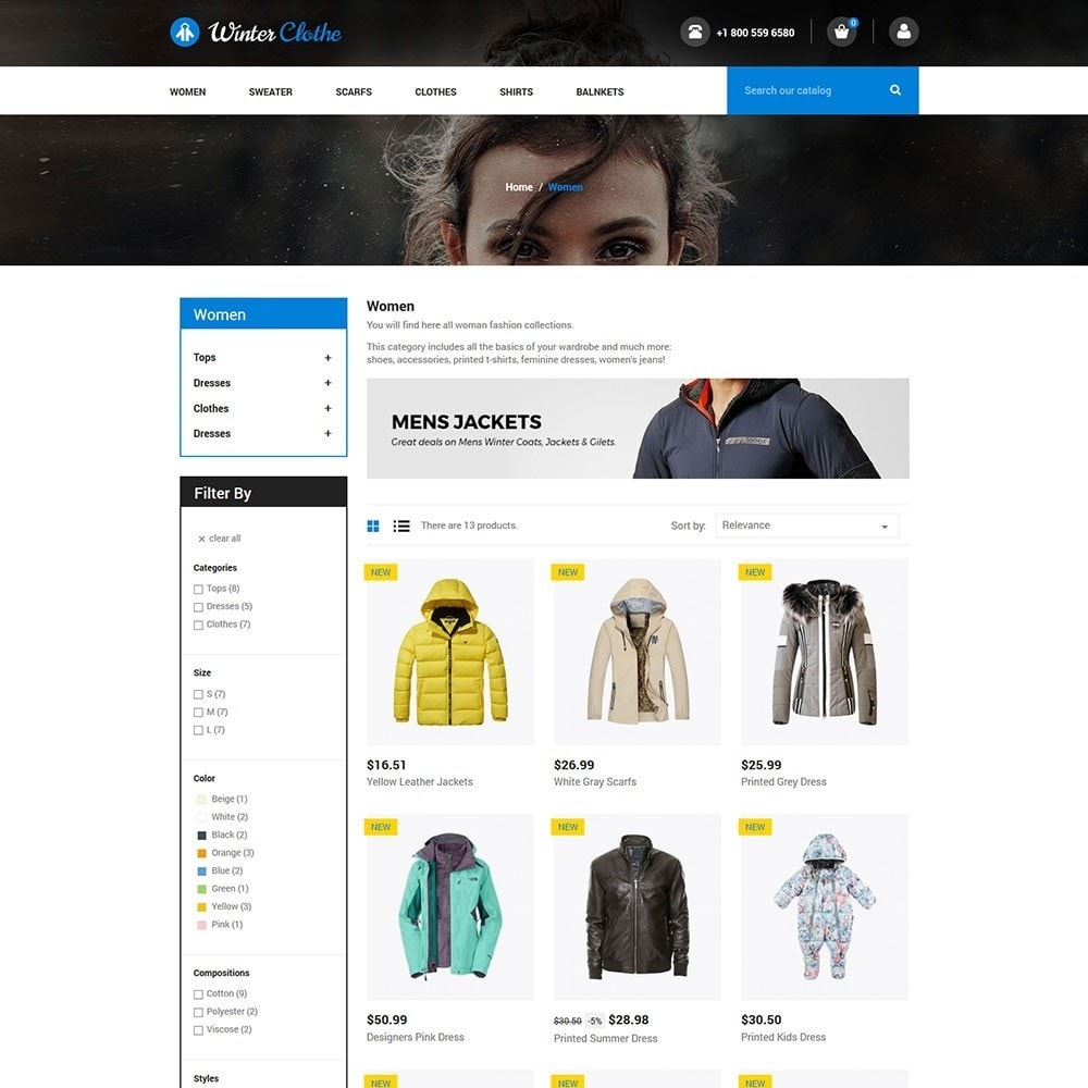 theme - Мода и обувь - Winter Cloth Store - 3