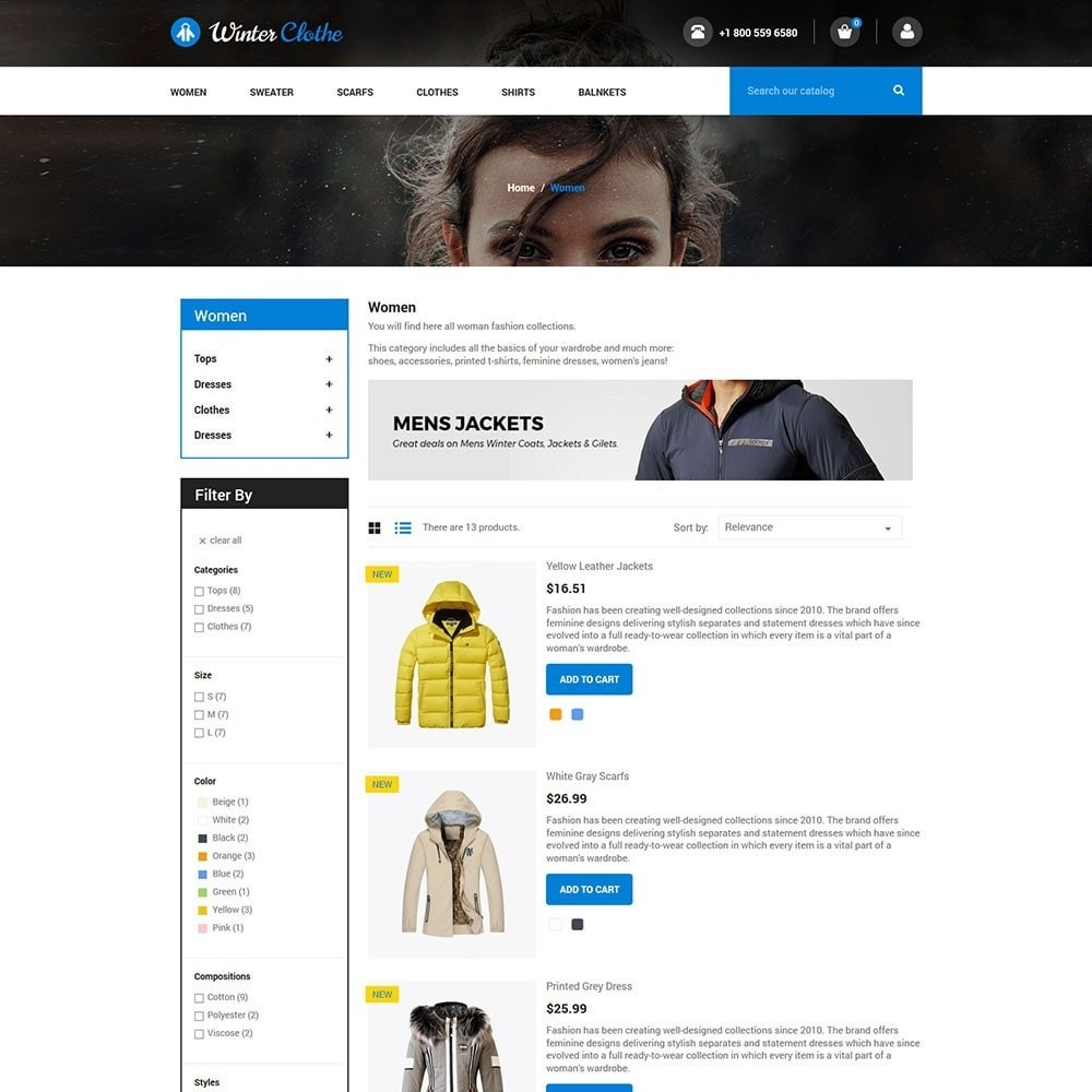 theme - Мода и обувь - Winter Cloth Store - 4