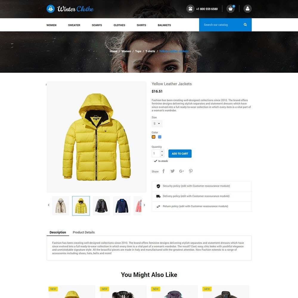 theme - Мода и обувь - Winter Cloth Store - 5