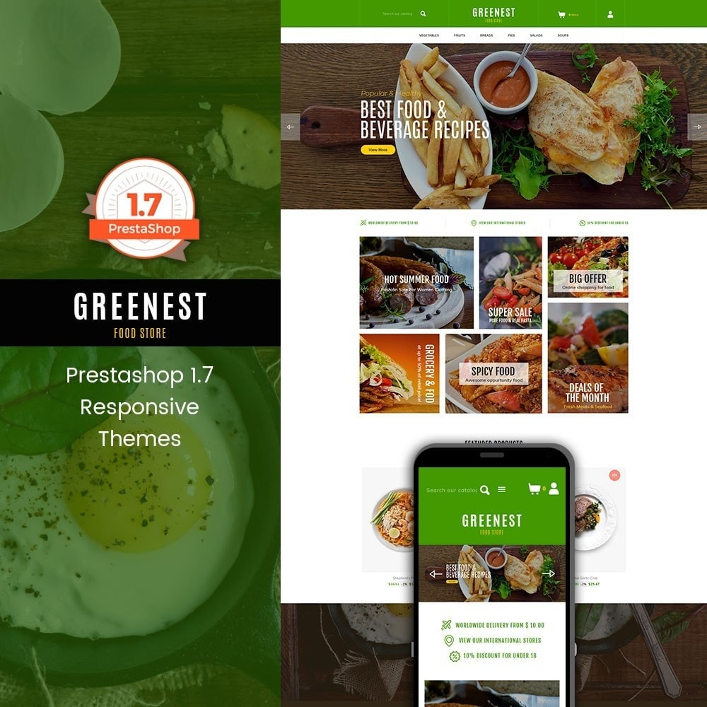 theme - Eten & Restaurant - Greenest - Food Store - 1