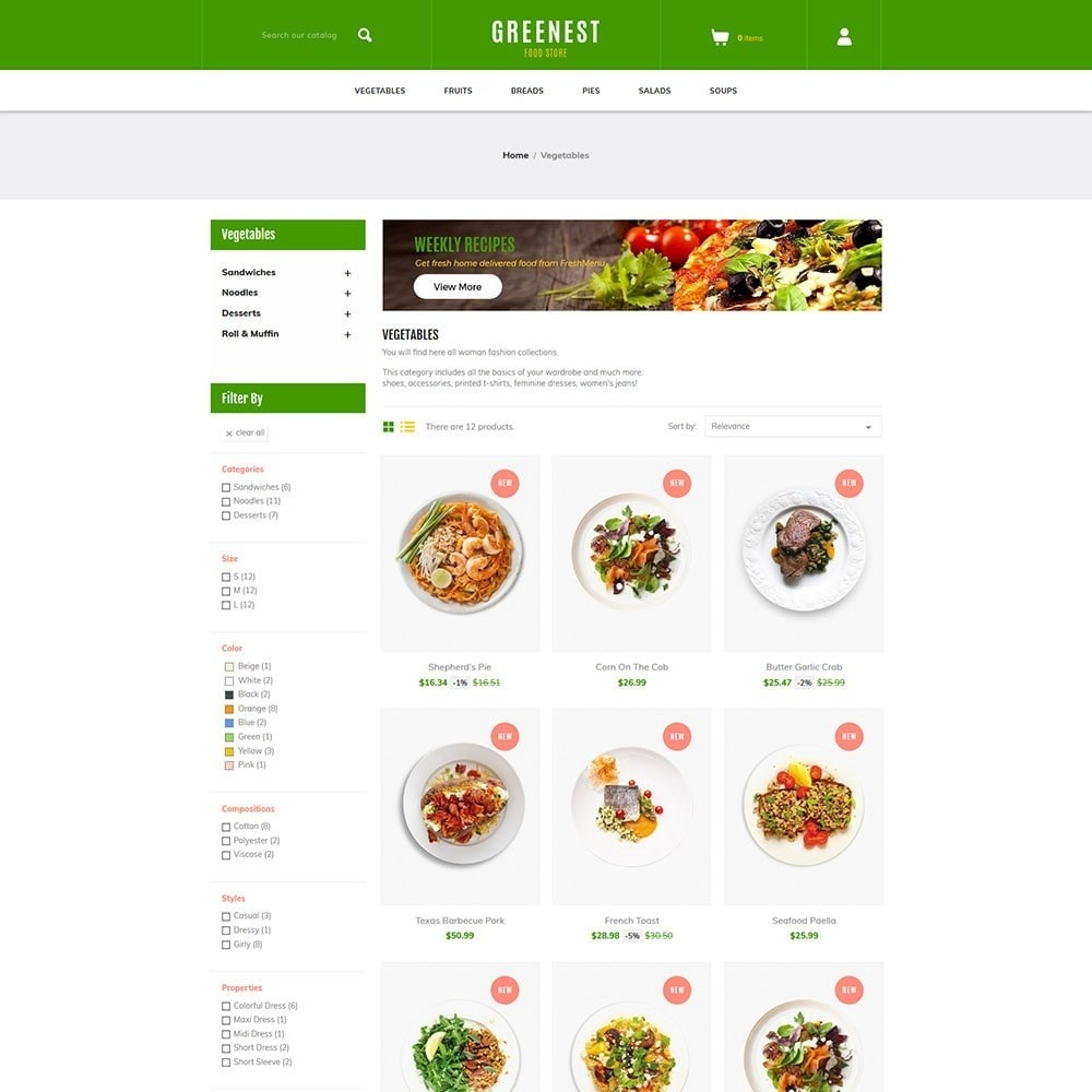 theme - Eten & Restaurant - Greenest - Food Store - 3