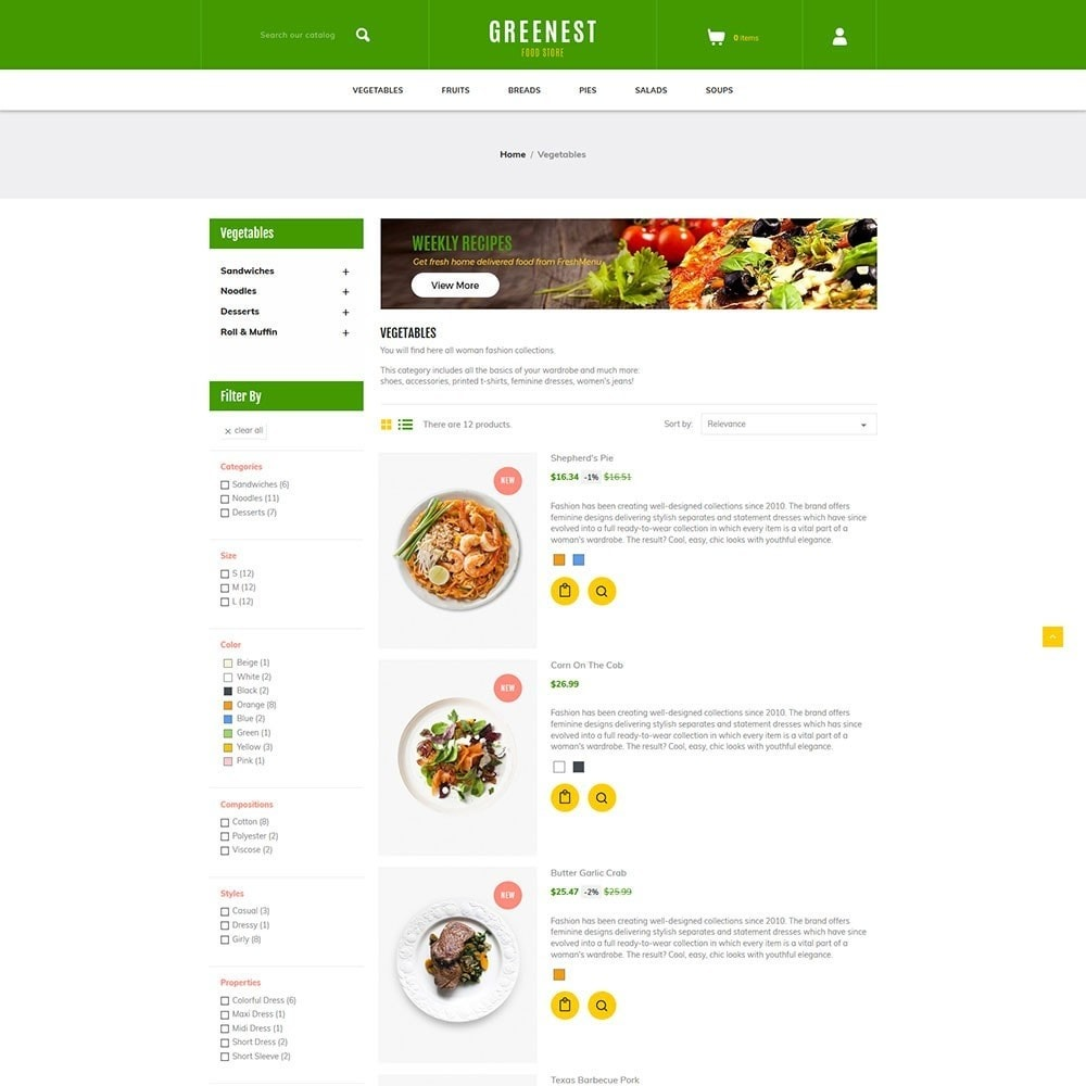 theme - Eten & Restaurant - Greenest - Food Store - 4