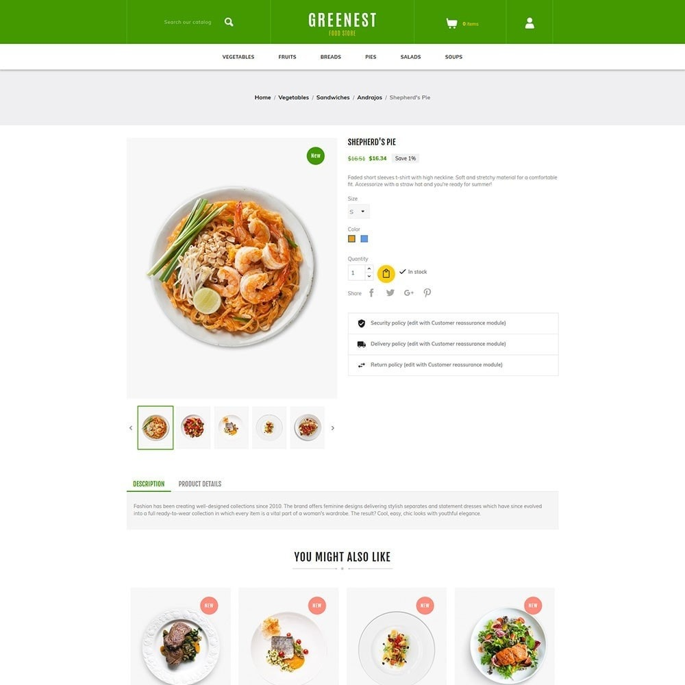 theme - Eten & Restaurant - Greenest - Food Store - 5