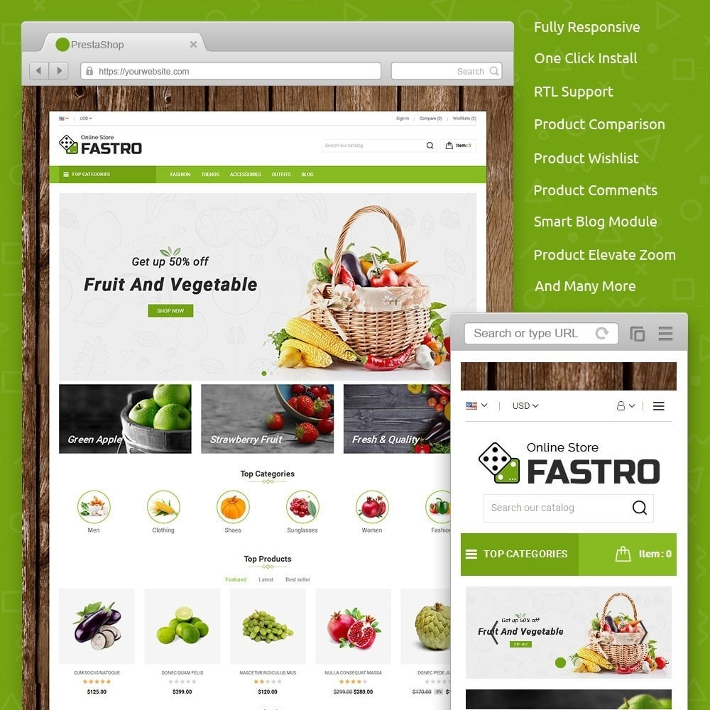 theme - Alimentation & Restauration - Fastro Grocery Store - 1