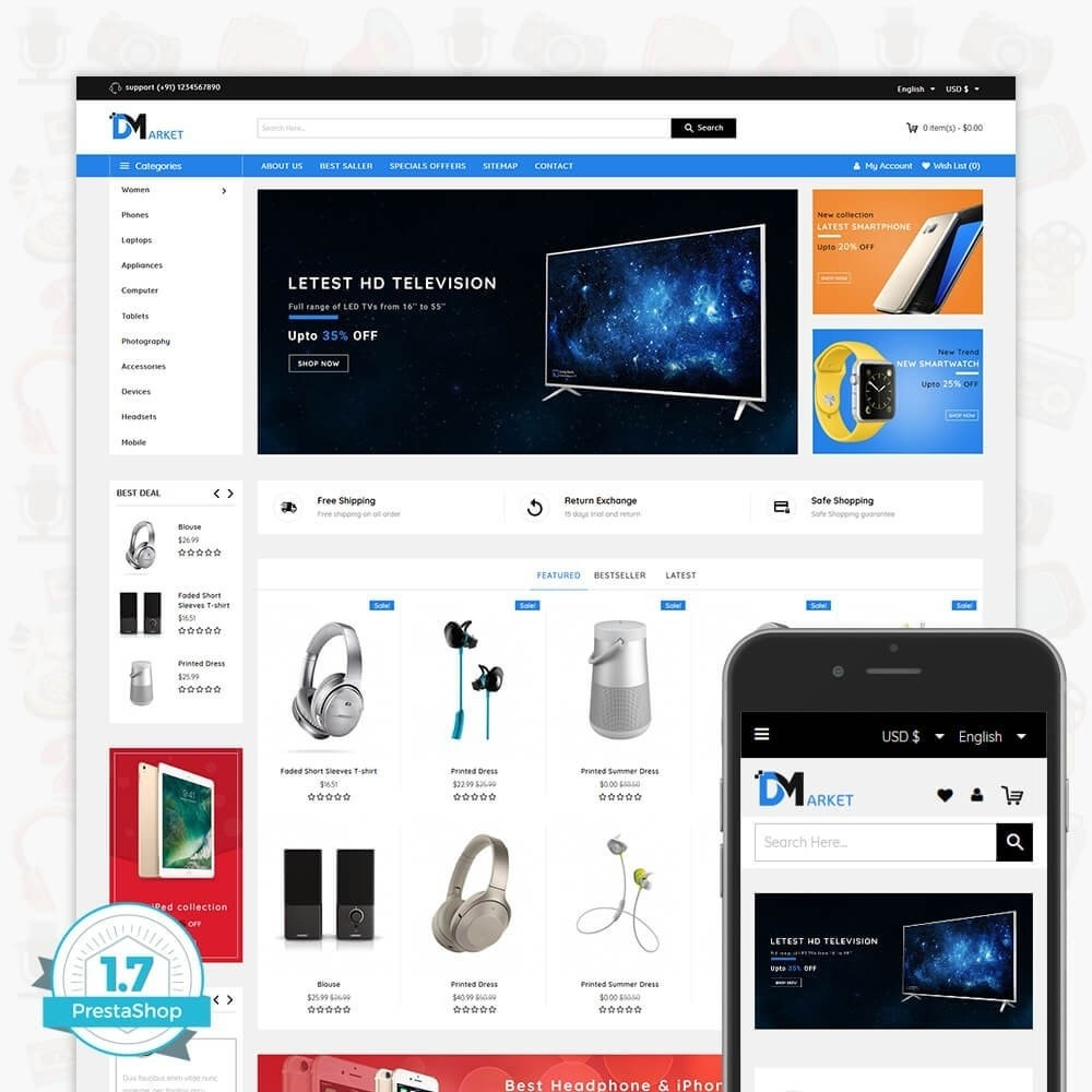 theme - Elektronica & High Tech - DM Market - The Mega Electronics Store - 1