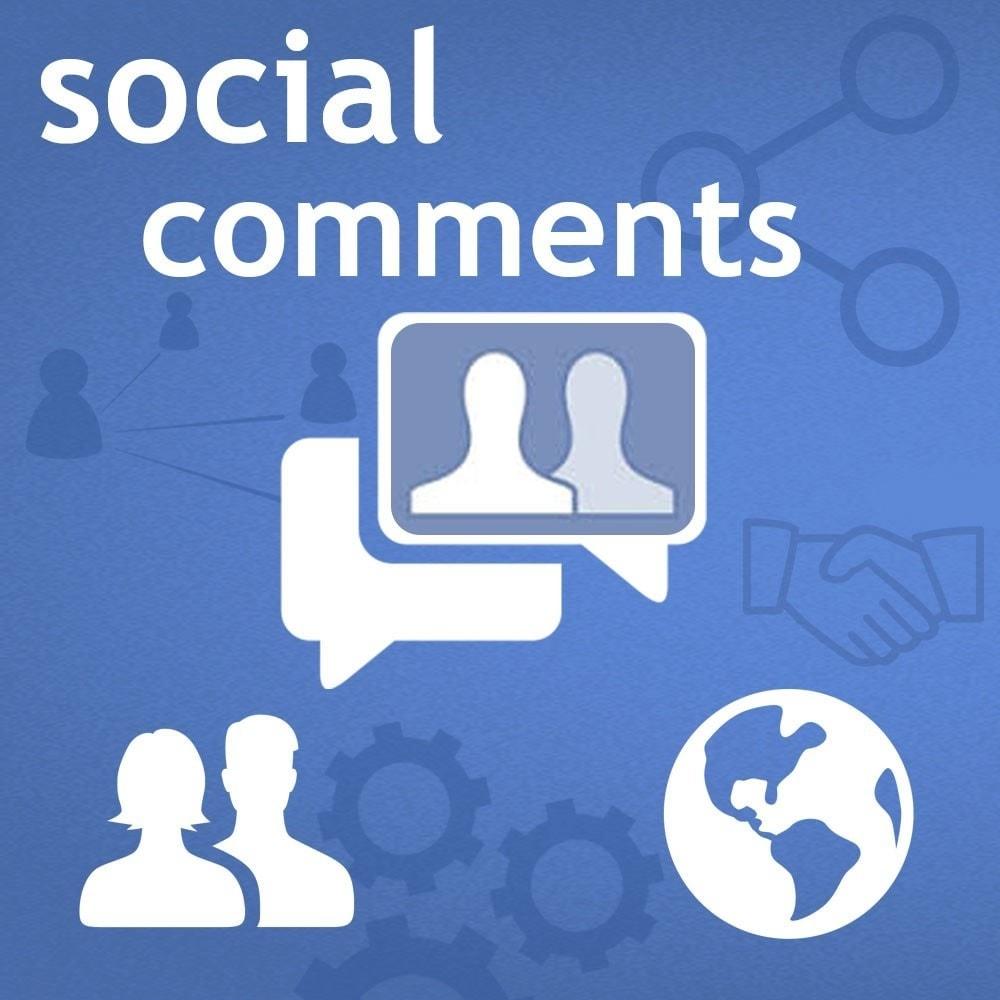 module - Кнопки 'Рассказать друзьям' и комментариев - Social Comments on Product page. - 1