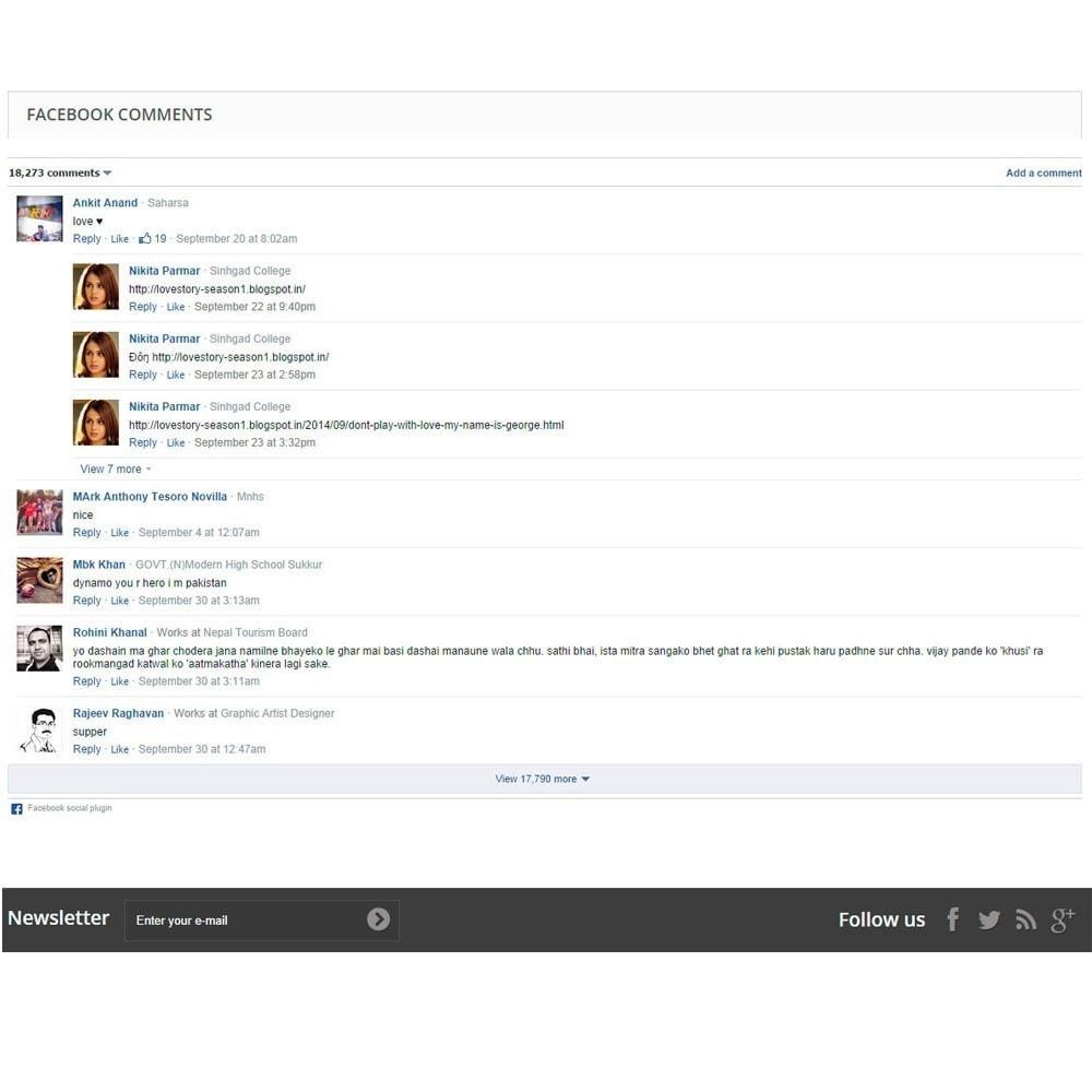 module - Кнопки 'Рассказать друзьям' и комментариев - Social Comments on Product page. - 3