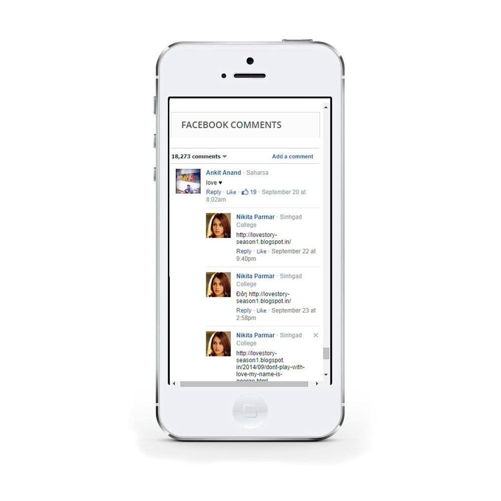 module - Кнопки 'Рассказать друзьям' и комментариев - Social Comments on Product page. - 4