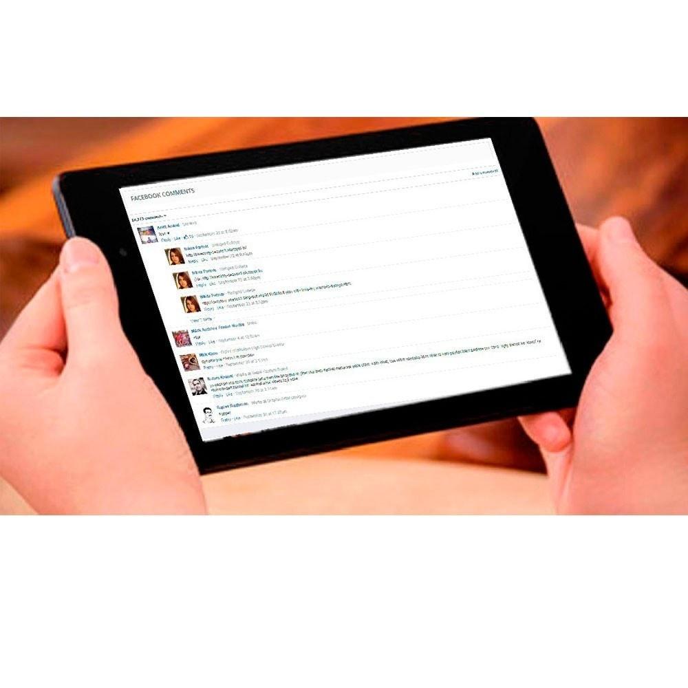 module - Кнопки 'Рассказать друзьям' и комментариев - Social Comments on Product page. - 5
