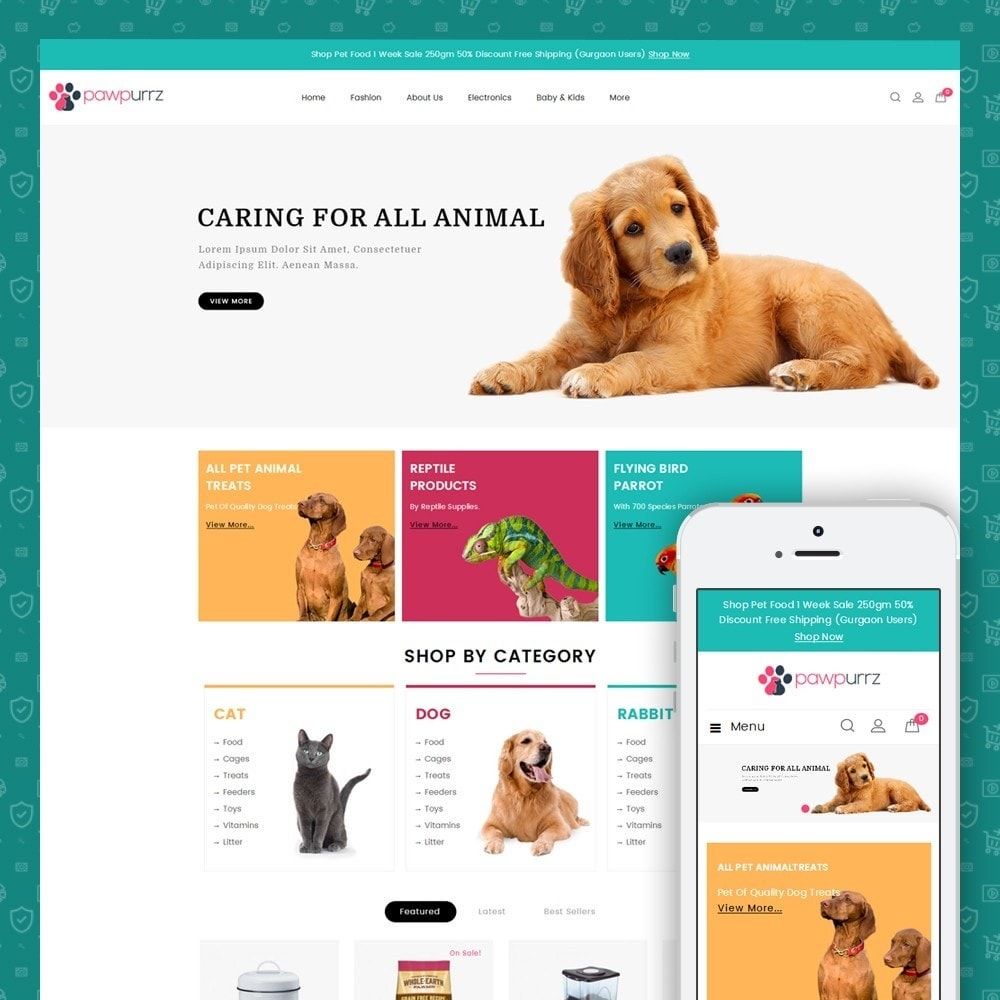 theme - Животные и домашние питомцы - PawPurrz - Pets Store - 1