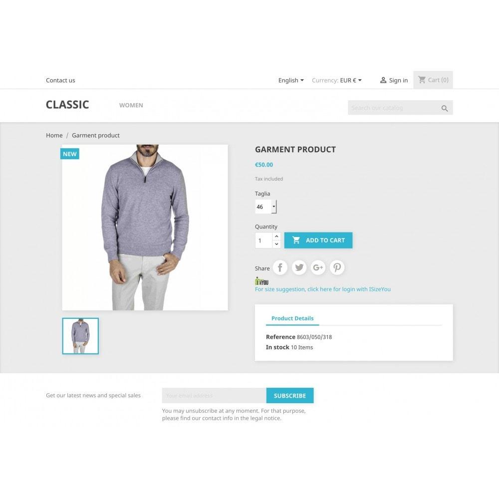 module - Grandezze & Unità di misura - ISizeYou - La taglia perfetta per ogni marca o negozio - 1