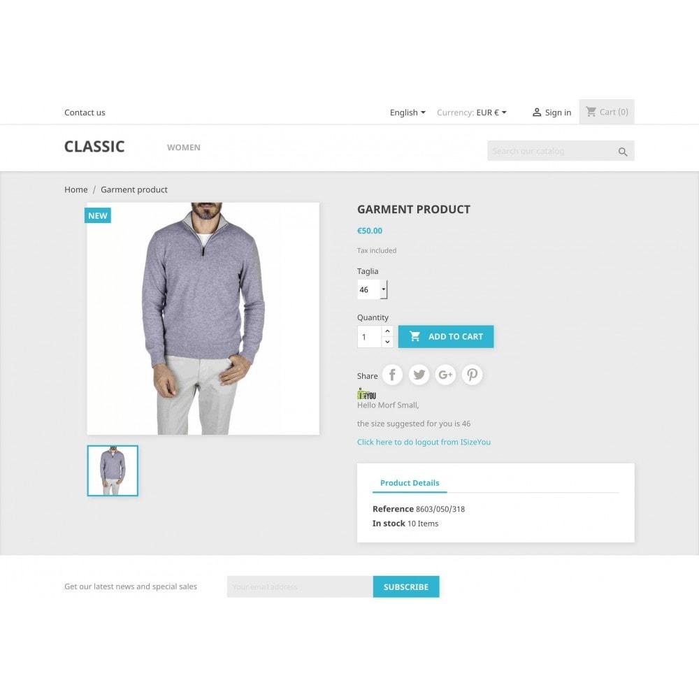 module - Grandezze & Unità di misura - ISizeYou - La taglia perfetta per ogni marca o negozio - 3