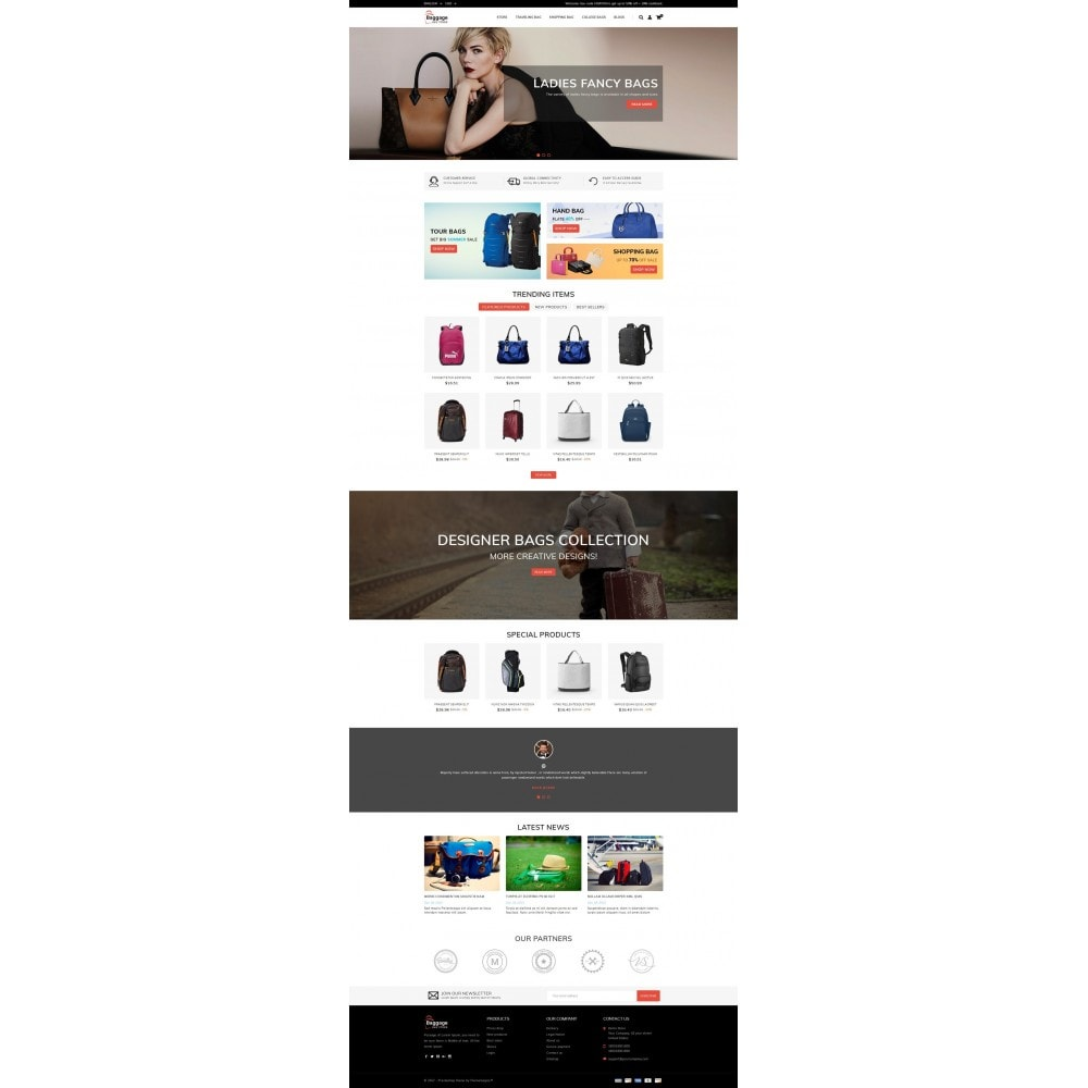 theme - Jewelry & Accessories - Baggage  - Bagstore template - 2