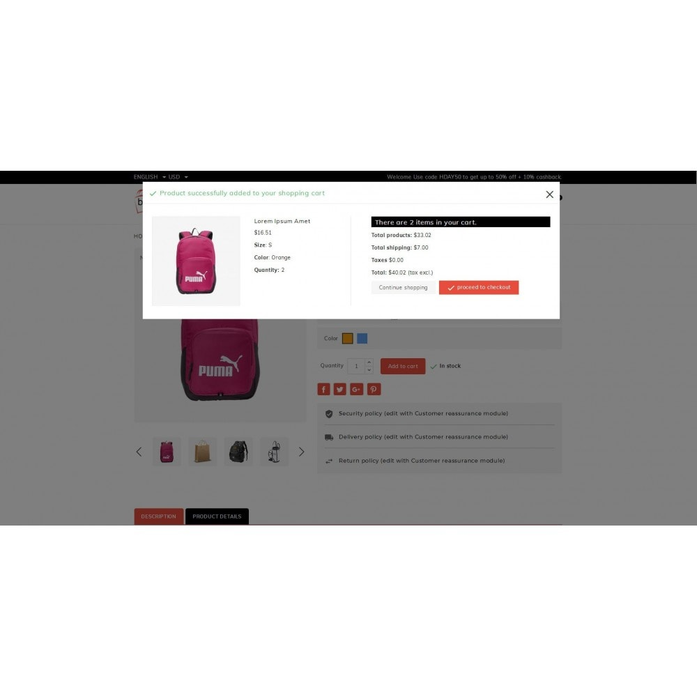 theme - Jewelry & Accessories - Baggage  - Bagstore template - 7