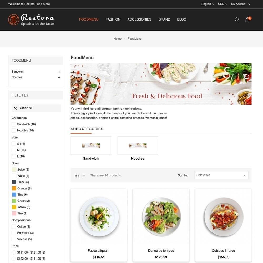 theme - Продовольствие и рестораны - Restora Food Store - 5