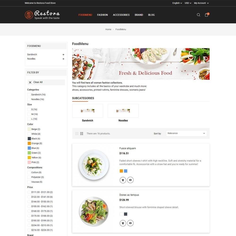theme - Продовольствие и рестораны - Restora Food Store - 6