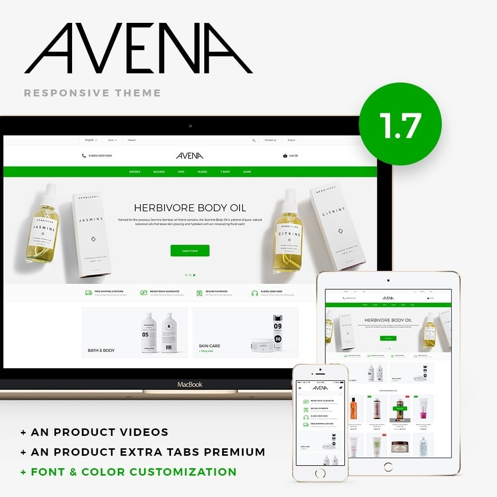 theme - Health & Beauty - Avena Cosmetics - 1