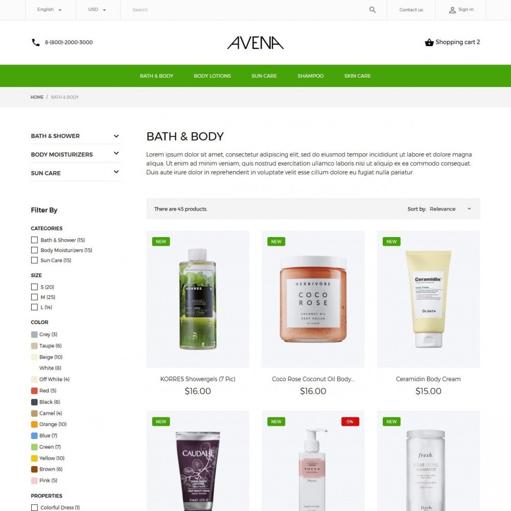 theme - Health & Beauty - Avena Cosmetics - 5