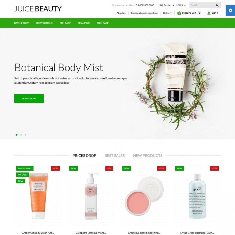 theme - Salute & Bellezza - Juice Beauty Cosmetics - 2