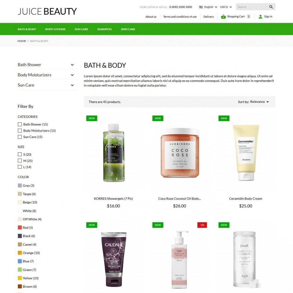 theme - Salute & Bellezza - Juice Beauty Cosmetics - 6