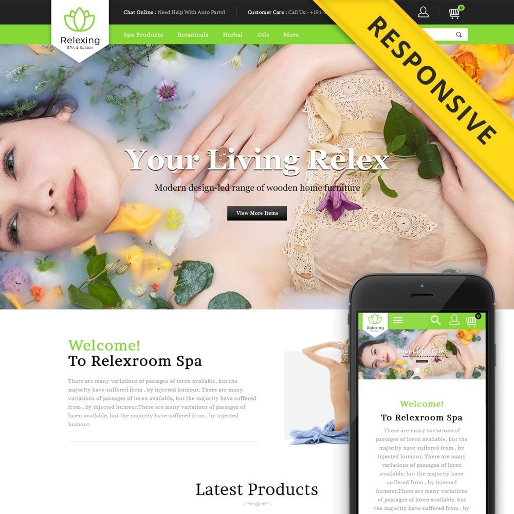 theme - Salud y Belleza - Relaxing - Spa & Saloon Store - 1