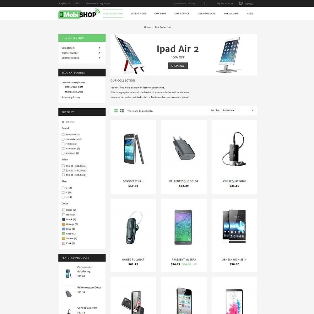 theme - PrestaShop Themen - Mobishop Onestop Mobile Store - 3