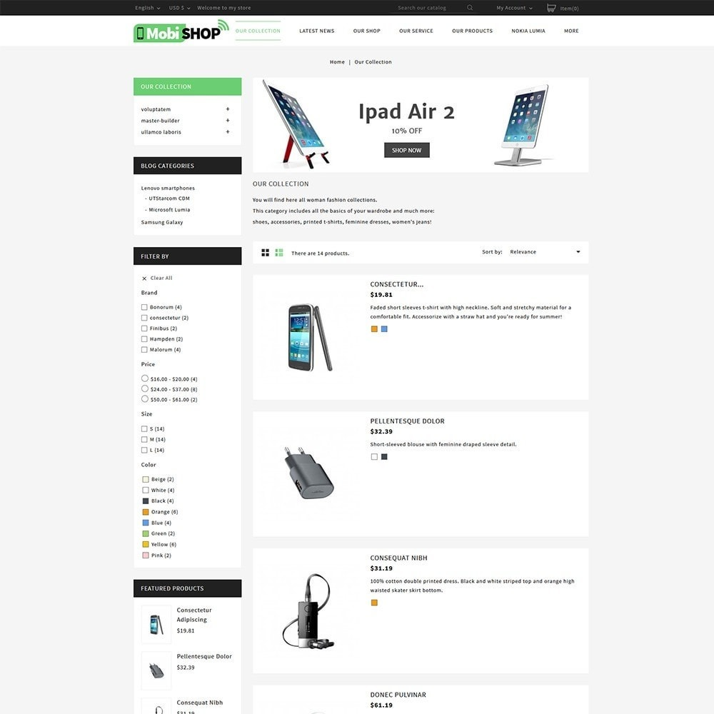 theme - Шаблоны PrestaShop - Mobishop Onestop Mobile Store - 4