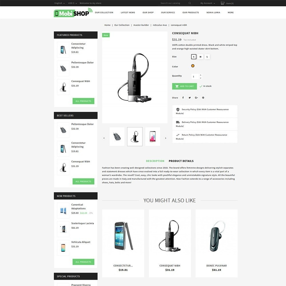 theme - PrestaShop Themen - Mobishop Onestop Mobile Store - 5