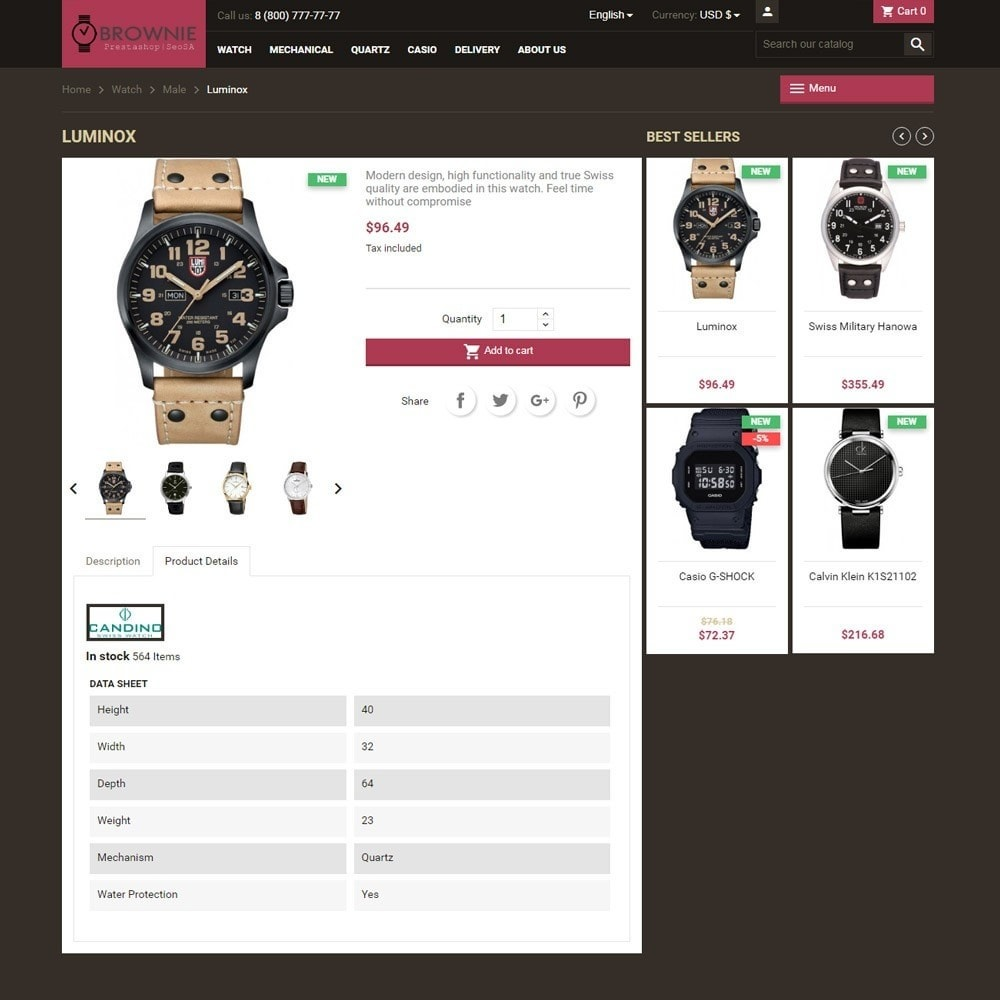 theme - Joalheria & Acessórios - Brownie expensive products store - 4