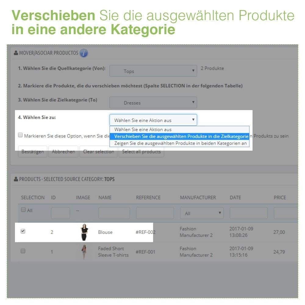 module - Quick Eingabe & Massendatenverwaltung - Verschieben und Zuordnen Produkten unter Kategorien - 5