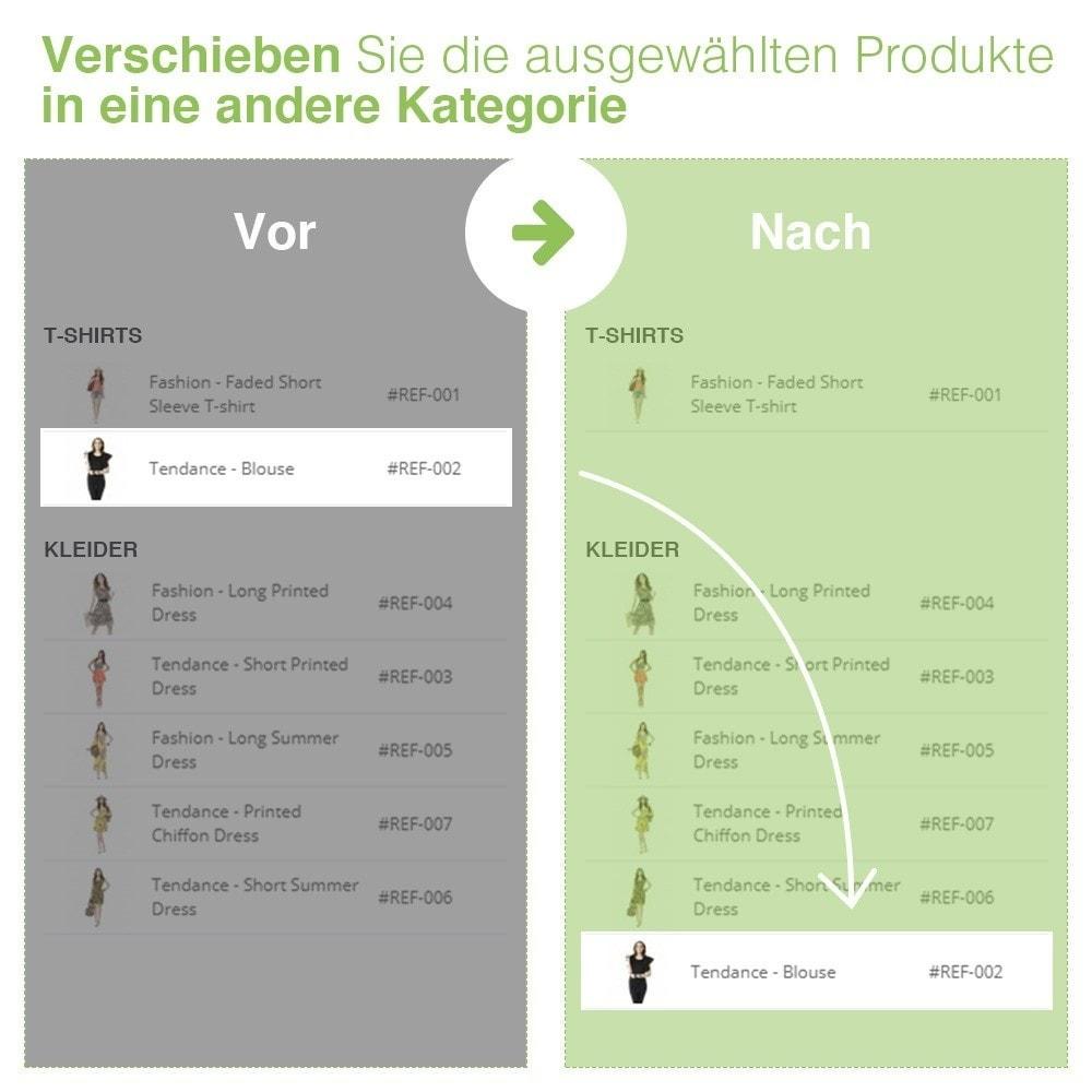 module - Quick Eingabe & Massendatenverwaltung - Verschieben und Zuordnen Produkten unter Kategorien - 6