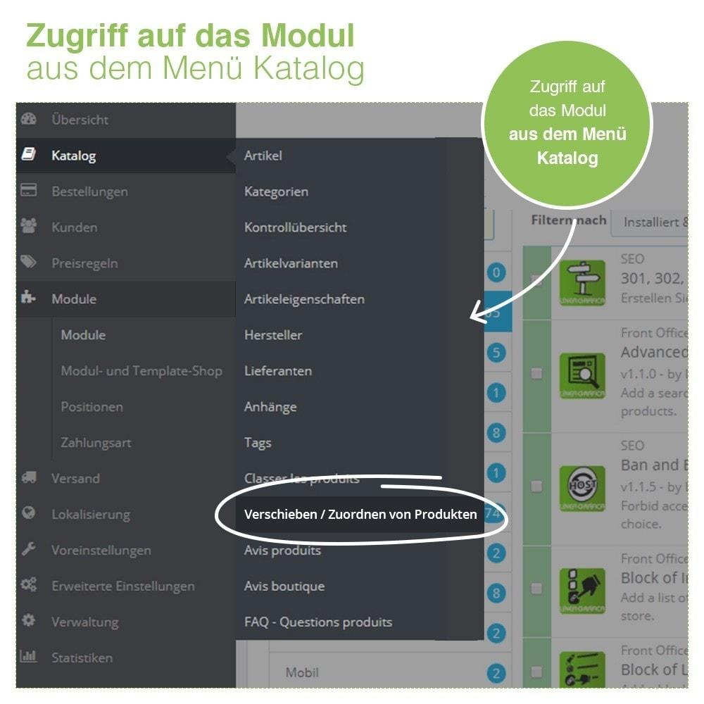 module - Quick Eingabe & Massendatenverwaltung - Verschieben und Zuordnen Produkten unter Kategorien - 2