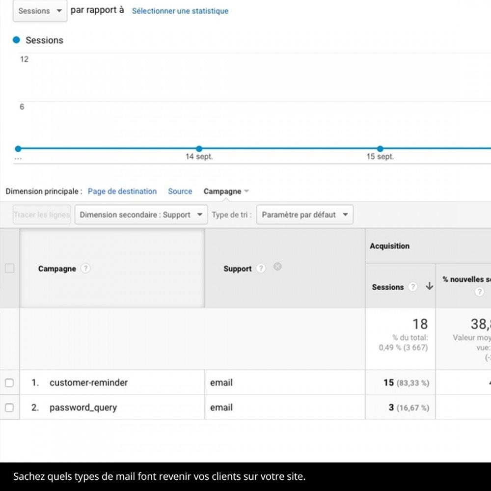 module - Analyses & Statistiques - Tagueur de mail UTM - 3
