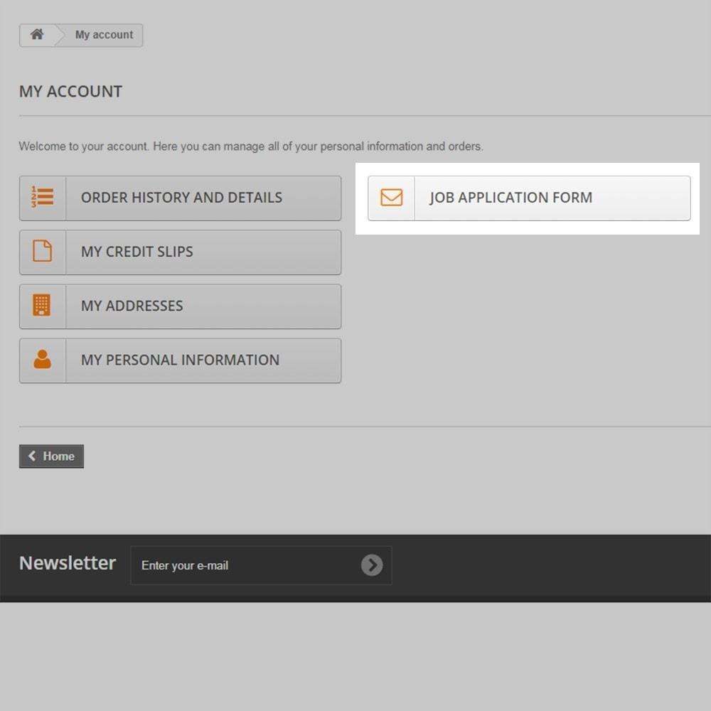module - Formulaires de Contact & Sondages - Postes et demandes d'emploi - 8