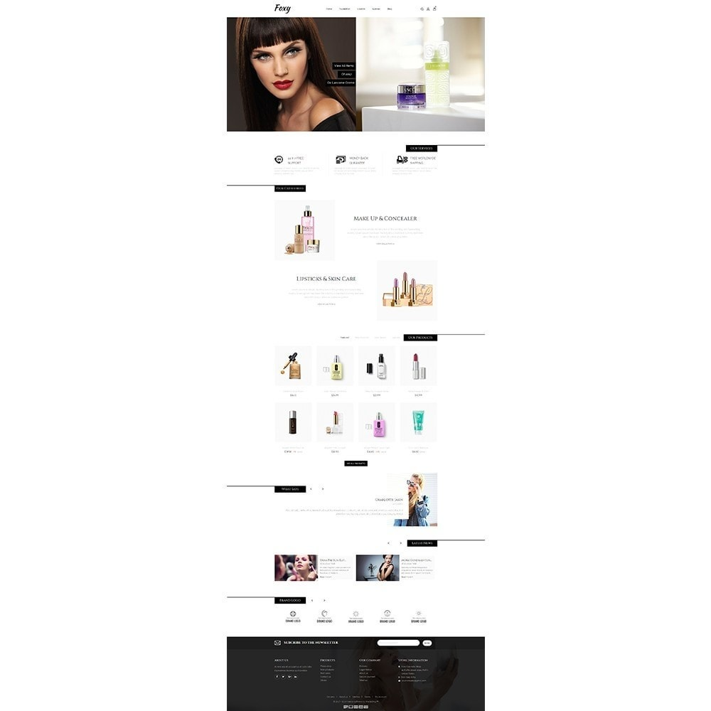 theme - Health & Beauty - Foxy Cosmetic Shop - 2